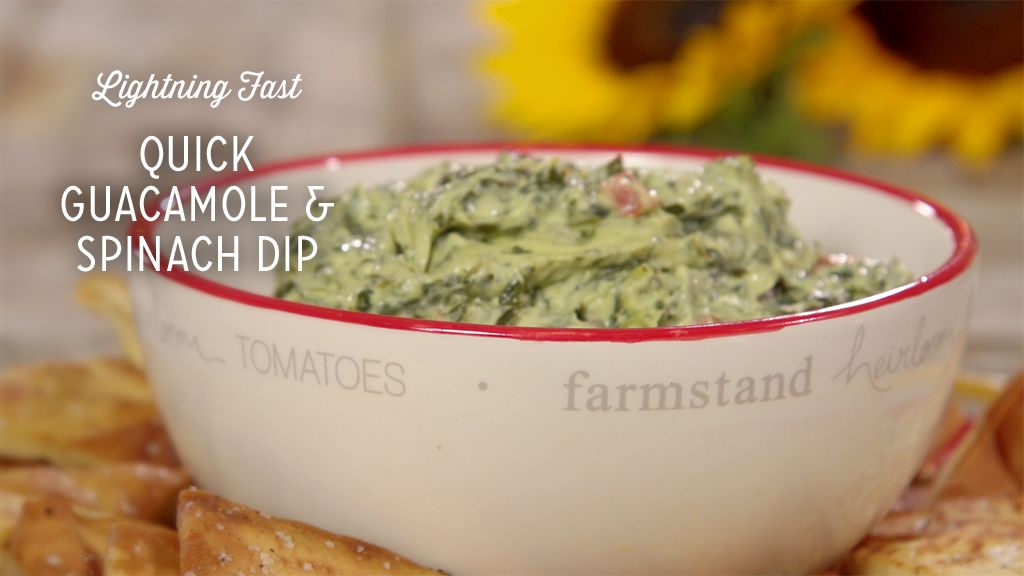 Quick Guacamole and Spinach Dip Thumbnail