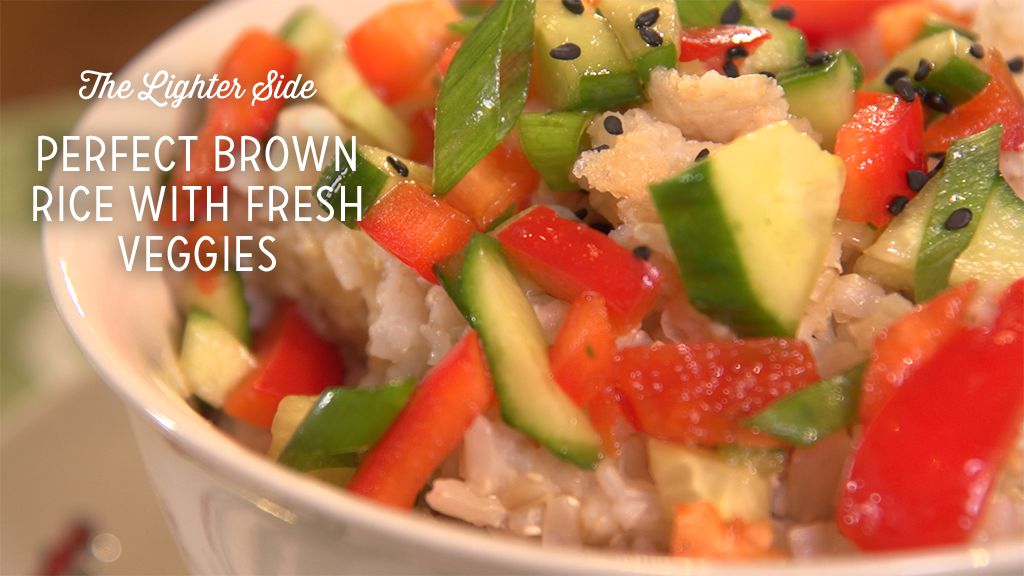 Perfect Brown Rice With Fresh Veggies Thumbnail