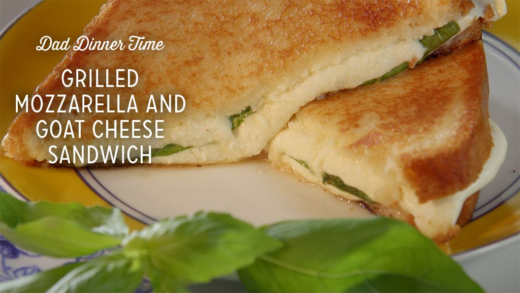 Grilled Mozzarella and Goat Cheese Sandwich Thumbnail