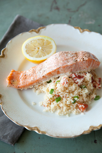 Salmon Filets over Couscous Thumbnail