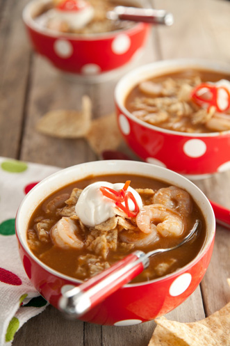 Shrimp and Chocolate Tortilla Soup Thumbnail