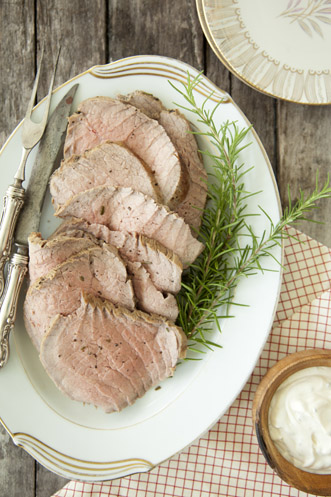 Slow Cooked Roast with Creamy Herb Sauce Thumbnail
