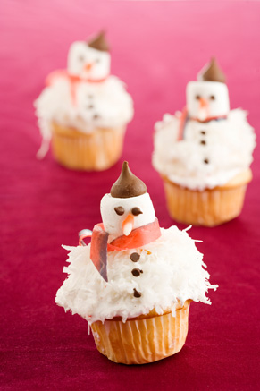 French Snowman Cupcakes Thumbnail