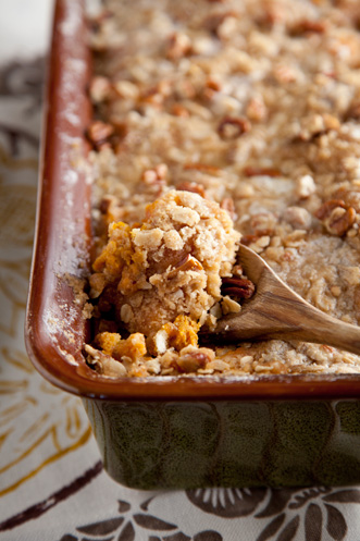 Sweet Potato Bread Pudding with Pecan Crumble Thumbnail