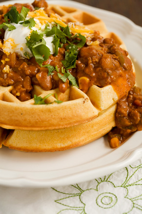 Cornmeal Waffles With Spicy Chili Thumbnail